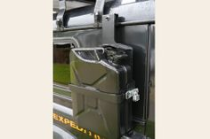 """Side mount carrier for """"Jerry Cans"""" Motorcycle Camping, Truck Camping, Camping Gear, Survival Prepping, Survival Gear, Survival Equipment, Emergency Food Storage, Truck Mods, Trailer Build"""
