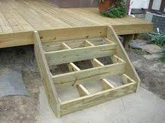 Your daily dose of Inspiration: Building Deck Stairs Building Stairs, Building A Porch, Building Deck Steps, Cool Deck, Diy Deck, Wooden Stairs, Wooden Decks, Patio Balcony Ideas, Porch Steps