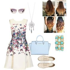 A fashion look from February 2015 featuring short dresses, patent leather shoes and handle bag. Browse and shop related looks.