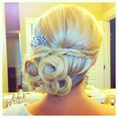 Idea for both girls Wedding updo