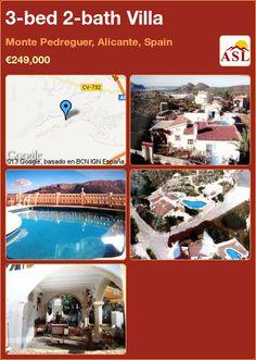 3-bed 2-bath Villa in Monte Pedreguer, Alicante, Spain ►€249,000 #PropertyForSaleInSpain