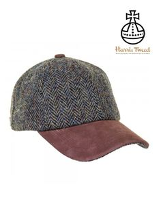 75297f38013 Glencairn Harris Tweed Baseball Caps - Herringbone