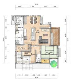 2階4LDK 家の中心にキッチンがある家 | シティハウス産業株式会社 Bedroom Decor For Women, White Wall Decor, House Viewing, Interior And Exterior, Interior Design, Room Planning, Cool Apartments, Japanese House, Luxury Decor
