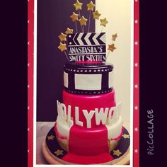 old hollywood cakes | Old Hollywood sweet 16 cake