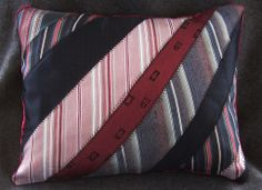 Dad's ties into a memory pillow for my sister, Laura