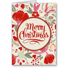 Floral Christmas Greeting Cards
