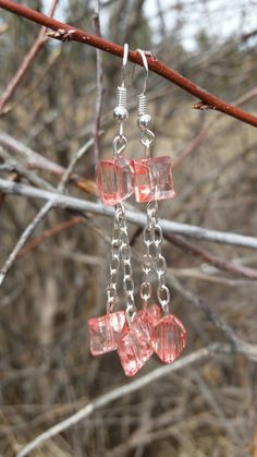 Check out this item in my Etsy shop https://www.etsy.com/listing/227177145/pink-square-dangle-earrings