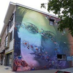 Super-A, Collin van der Sluijs & Rutger Termohlen collaborate on a new mural in Genk, Belgium