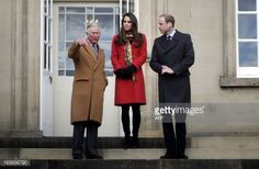 Prince Charles, Prince of Wales, known as the Duke of Rothesay when in Scotland, Catherine, Duchess of Cambridge and Prince William, Duke of Cambridge, known as the Earl and Countess of Strathearn in...