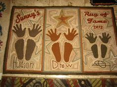 The Grinning Sheep - hand prints & foot prints