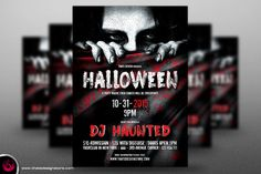 Halloween Flyer Template V5 by Thats Design Studio on @creativemarket
