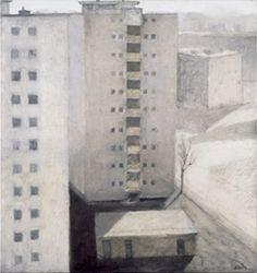 Miklós Szüts: Peace square,  2000/9    oil on canvas    85 x 80  cm
