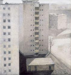 Miklós Szüts: Peace square,  2000/9    oil on canvas    85 x 80  cm