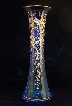 Cobalt Blue Moser Vase