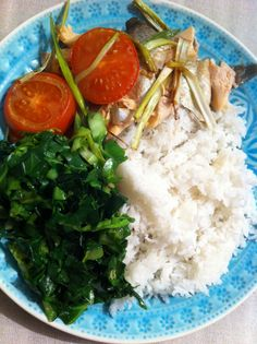 Grilled Sea Bass with spring onions and ginger. One of my favourite meals to have. I always serve it with grilled tomato and jasmine rice.