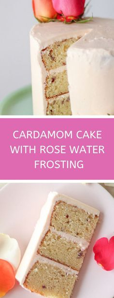 This easy cardamom cake recipe is quick, simple and delicious! A perfect bridal shower cake, fancy birthday cake, or even wedding cake flavor idea. Dried rose petals baked in make this cake even more feminine and romantic. Fancy Birthday Cakes, Birthday Cake Flavors, Wedding Cake Flavors, Easter Cake Flavors, Wedding Cakes, Wedding Themes, Best Cake Recipes, Cupcake Recipes, Cupcake Cakes