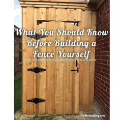 What You Should Know Before Building a Wood Fence. Pin and read later!