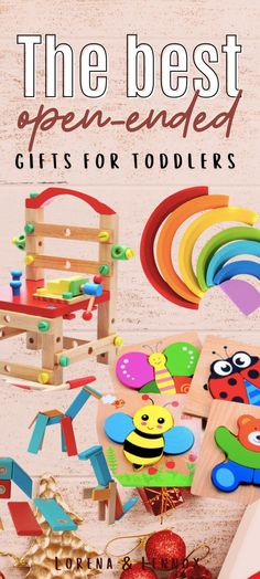 The Best Open-Ended Toys for Bilingual Toddlers and Preschoolers #toddlergiftguide #preschoolgiftguide #openendedtoys #thebesttoddlertoys #thebestpreschoolertoys #educationaltoddlertoys #educationalpreschooltoys #montessoritoys #loospartsplay #playbasededucation #bilingualkids #toysforbilingualkids Learning Toys For Toddlers, Toddler Learning, Toddler Preschool, Toddler Activities, Kids And Parenting, Preschool Learning Toys, Christmas Gift Guide, Christmas Crafts, Holiday Gifts