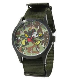 And A KOMONO(アンドエーコモノ)のミッキーウォッチ(腕時計)|カーキ