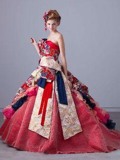 Evening Dresses, Prom Dresses, Formal Dresses, Stylish Dresses, Nice Dresses, Modern Filipiniana Gown, Fantasy Dress, Japanese Outfits, Kimono Dress