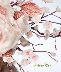 Cherry Blossom Fascinator Blush Headpiece Cocktail by ArturoRios