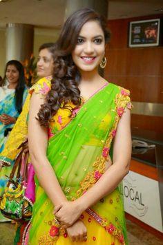Telugu Actress Ritu Varma Hot Beautiful Half Saree stills 10 Most Beautiful Women, Beautiful Women Pictures, Beautiful Girl Indian, Beautiful Saree, Beautiful Indian Actress, Beautiful Actresses, Floral Print Sarees, Function Dresses, Indian Models