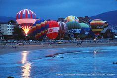 Festival aerostático de Getxo, playa de Ereaga, julio de 1991 (Foto: © Heinz Hebesein) (ref. 06623)