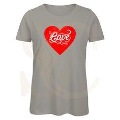 Love Heart Ladies T-Shirt - X Small / Black / Design 1