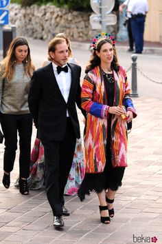 Andrea Casiraghi y Tatiana Santo Domingo en los MCFW Fashion Awards 2017