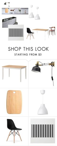 """""""Kitchen - dining room Draft"""" by ilkovats on Polyvore featuring interior, interiors, interior design, home, home decor, interior decorating, Lampara, dining room and kitchen"""
