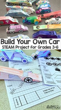 Test Track: A STEAM Project Based Learning Experience - Let your and grade students integrate math, science, art, and engineering with this Math Projects, Science Fair Projects, Science Experiments Kids, Stem Science, Science Art, Engineering Science, Teaching Science, Science Education, Steam Art