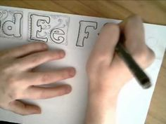 Fun With Typography - The Letter F - A Dangerous Doodle by Miraculous Mosquito.