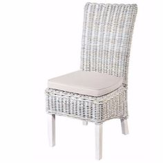 Modish Living's stylish and contemporary White Wash Rattan Dining Chairs with Cream Cushion are made ​​with the highest quality natural rattan and fabric. The chairs are constructed out of high quality rattan and have a fabric upholstered seat which makes them super comfortable to sit and chat for hours.