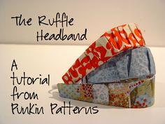 ruffle headband tutorial...if i make one will i start wearing headbands?  hmmmmm.