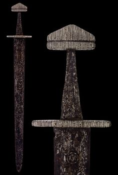"myArmoury.com A Frankish-Norman Sword, Northwest Europe, 9th century Overall length: 83.2 cm (32.75""); Blade length: 68.5 cm (27"")"