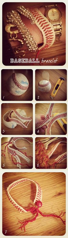 DIY Baseball Bracelet | iCreativeIdeas.com Like Us on Facebook ==> https://www.facebook.com/icreativeideas