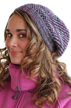 Head off winter's chill with this pretty knit slouch hat (@ Luv in the Mommyhood)