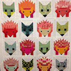 A class and a baby quilt in the works. #fancyfox  #hazelthehedgehog