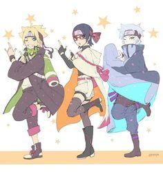 Read Team Konohamaru from the story Boruto Funny Pictures. Naruto Uzumaki, Anime Naruto, Sakura E Sasuke, Chibi Anime, Naruto Fan Art, Naruto Sasuke Sakura, Sarada Uchiha, Naruto Cute, Fanarts Anime