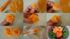 Garnish tips (carrot flowers)