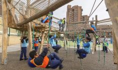Foster + Partners completed the Ashburnham School Playground, a new urban oasis for school children in London that combines sustainable design with holistic learning. Landscaping With Boulders, Sensory Stimulation, Foster Partners, Public Garden, Learning Process, Learning Environments, Play To Learn, Sustainable Design, Playground