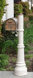 New England Woodworks Wooden Cedar Elegant Mailbox Post