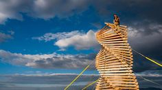 """""""Helix Spire"""" by Erich Remash + Chris Thomas Helix Spire was a temporary sculptural play toy, a climbing tower, a lookout 25 feet above the ground. Mundan..."""
