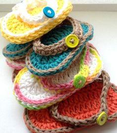 Chubby Baby Flip Flop Crochet Sandal Free Pattern