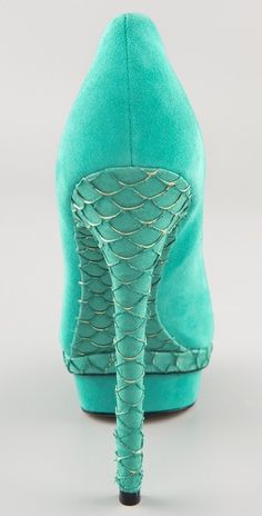These Brian Atwood pumps would be reason enough for any mermaid to give up her fins!