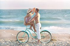 #beach, #bicycle  Photography: Jana Williams - jana-williams.com/  Read More: http://www.stylemepretty.com/2013/07/16/engagement-photo-shoot-film-from-jana-williams-tim-and-co-motion-pictures/