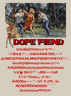 Download another cool and eclectic GAUTFONT Dope Fiend – 258 glyphs - 4 weights #GautFonts #Exploitation The Final Movie, Bruce Bennett, Glyphs, Weights, Puerto Rico, Island, Cool Stuff, Film, Movie Posters