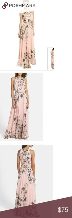 "Eliza J chiffon dress Pink floral ...Nota Bene ""last two pictures are not the color of dress""... Eliza J Dresses"