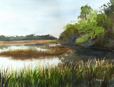 watercolor paintings of marshes - Google Search
