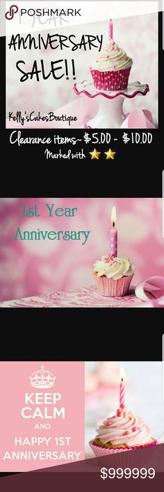 🌟🌟1 YEAR ANNIVERSARY SALE!!🌟🌟Feb 2017 to NOW🌟 🌟🌟FEBRUARY 2017 I STARTED MY CLOSET!! 🌟🌟 Many clearance items need to go!! Marked down starting at $5.00 to $10.00!! 🌟🌟10% BUNDLE DISCOUNT STILL APPLIES!!!!🌟🌟 💕💕PFF'S, PLEASE SHARE😘😘 💕💕LIKE THIS LISTING TO BE NOTIFIED OF ADDITIONAL SALES!!💕💕 Other